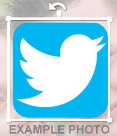 Adicione o logotipo do twitter às suas fotos online