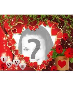Cartão do amor com muitos corações e texto AMOR
