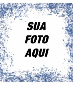 Manchas azuis em torno de suas fotos com este efeito de foto