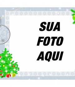 Moldura para foto com design do Natal para decorar