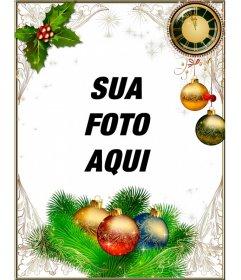 Quadro para decorar suas fotos de Natal e Ano Novo
