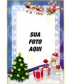 Template gratuito de Natal para personalizar com sua foto online