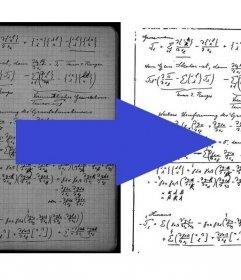 Efeito para otimizar notas digitalizadas melhorando o contraste e legibilidade