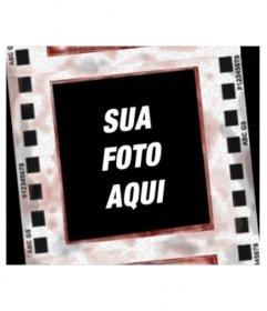Efeito negativo para fotos. Inverte as cores e coloca sua foto no quadro de um negativo revelado