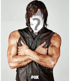 Fotomontagem para colocar seu rosto em Daryl Dixon de Thewalking Dead