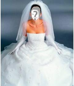 disfarce você de noiva com esta fotomontagem. de Branco.