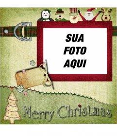 Cartão de Natal para fazer com o seu antigo estilo de foto.