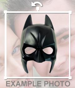 Etiqueta com super-herói Batman máscara