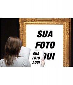 Efeito de foto em que você aparece em uma famosa pintura em um museu