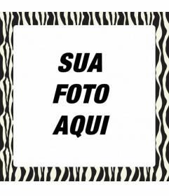 Quadro Para Decorar Com Fotos Preto E Branco Zebra Imprimir E