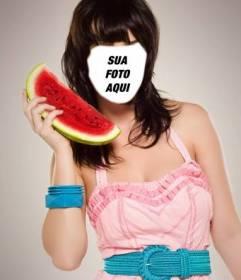 Torne-se Katy Perry com esta fotomontagem para editar para