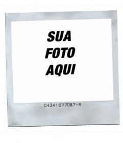 Estilo de quadro de imagem Polaroid com fundo branco