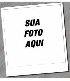 Moldura para fotos que irão dar a sua imagem a aparência de uma Polaroid, com seu quadro branco típico. A parte inferior da imagem é pintada lápis.