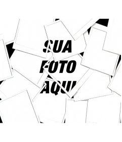 Com este efeito de foto, sua imagem aparecerá como uma composição feita com vários tipos de colagem de fotografias tipo Polaroid
