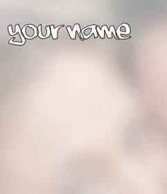 Efeito de foto para colocar seu nome na foto que você deseja. Para fazer on-line, você pode colocar um nome em uma foto, mudar a cor e fonte.