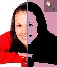 Pop Art colocar um efeito na sua foto, fundo rosa. Perfeito para fazer a sua foto do perfil