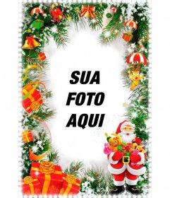Cartão de Natal Vertical com Santa.