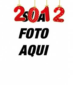 Ponha seu número na sua foto do ano novo de 2012 com um efeito como se fossem pendurados