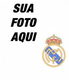 Coloque o emblema do Real Madrid sobre sua foto