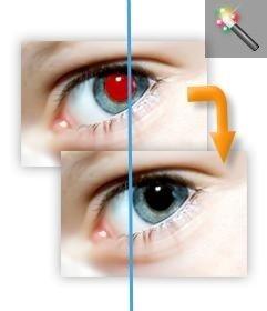 Remova os olhos vermelhos da sua foto on-line