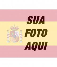 Fotomontagem para colocar a bandeira da Espanha em sua foto que você pode usar na sua foto do perfil