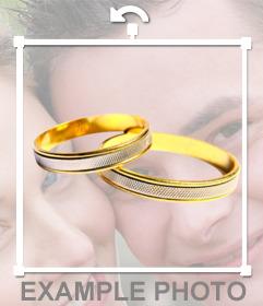 anéis de casamento colocar em sua foto com este