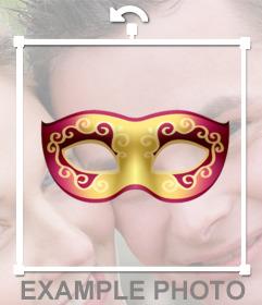 Máscaras venezianas para colocar suas fotos e grátis