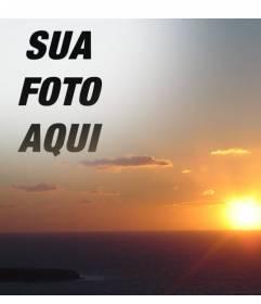 Com essa montagem, você pode editar um por do sol no litoral, fazendo uma colagem com um corte de sua foto. Ideal para rostos.