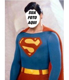 Fotomontagem para se tornar Superman com a foto que deseja