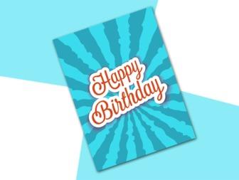 Comemore seu aniversário com este cartão original para editar com duas imagens