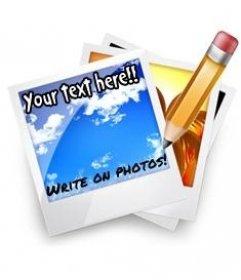 Escrever em fotos online. Foto efeito para colocar o texto em fotos de graça. Escrever em fotos é fácil, basta fazer o upload de uma foto e seguir alguns passos simples.