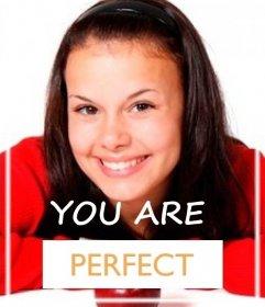 Efeito para dizer a alguém que é perfeito
