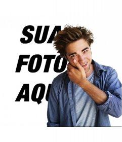 Fotomontagem para tirar uma foto com Robert Pattinson no filme Crepúsculo.