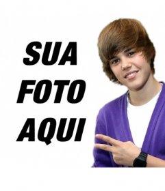 Fotomontagem para tirar uma foto com Justin Bieber