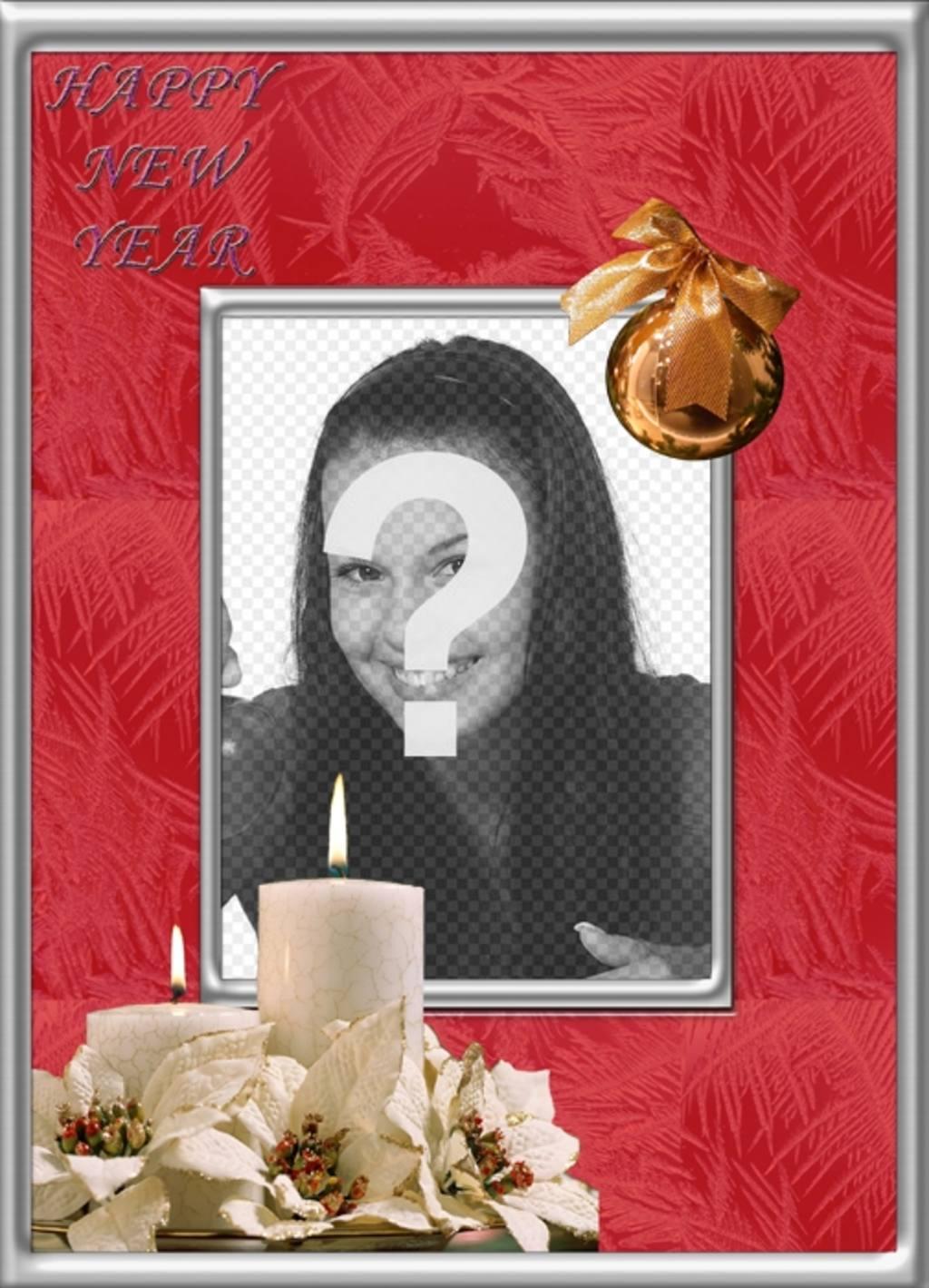 Quadro on-line para fotos para comemorar um ano novo feliz