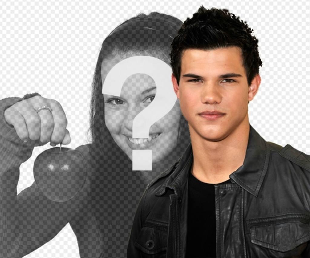 Foto montagem com Taylor Lautner de Lua Nova