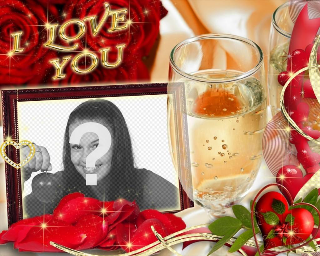 Cartão para amantes com o texto EU TE AMO
