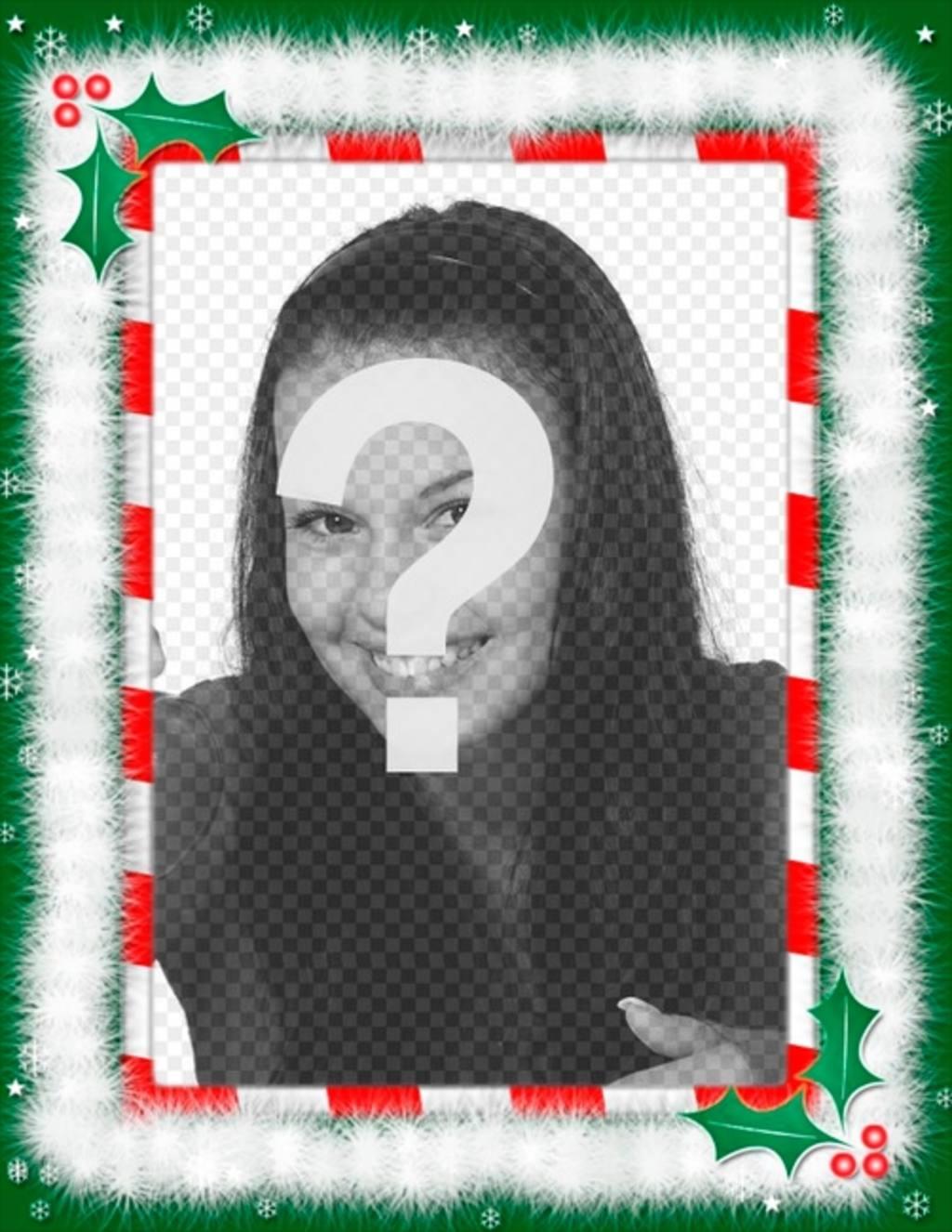 Moldura com as decorações de Natal, parabéns especiais por e-mail