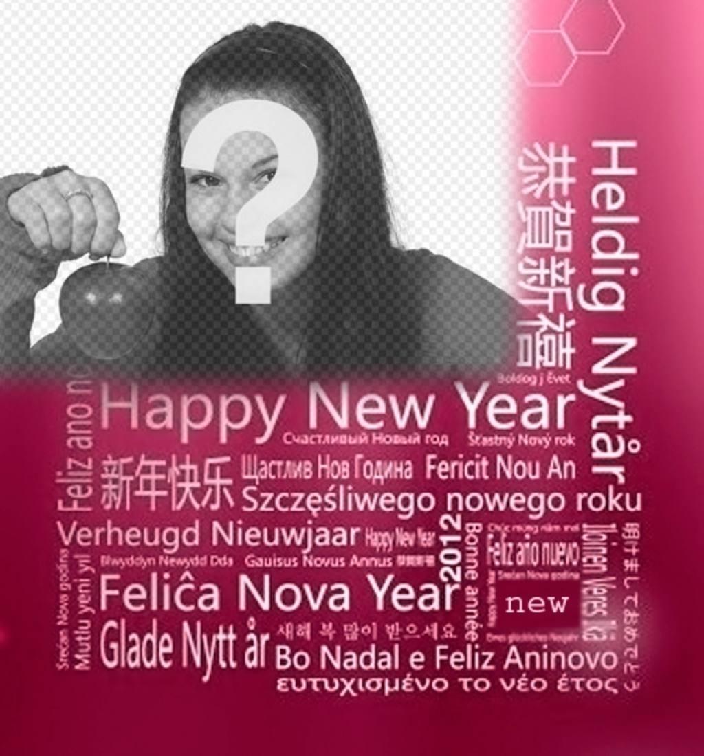Cumprimentos de Ano Novo em diferentes línguas para colocar sua foto
