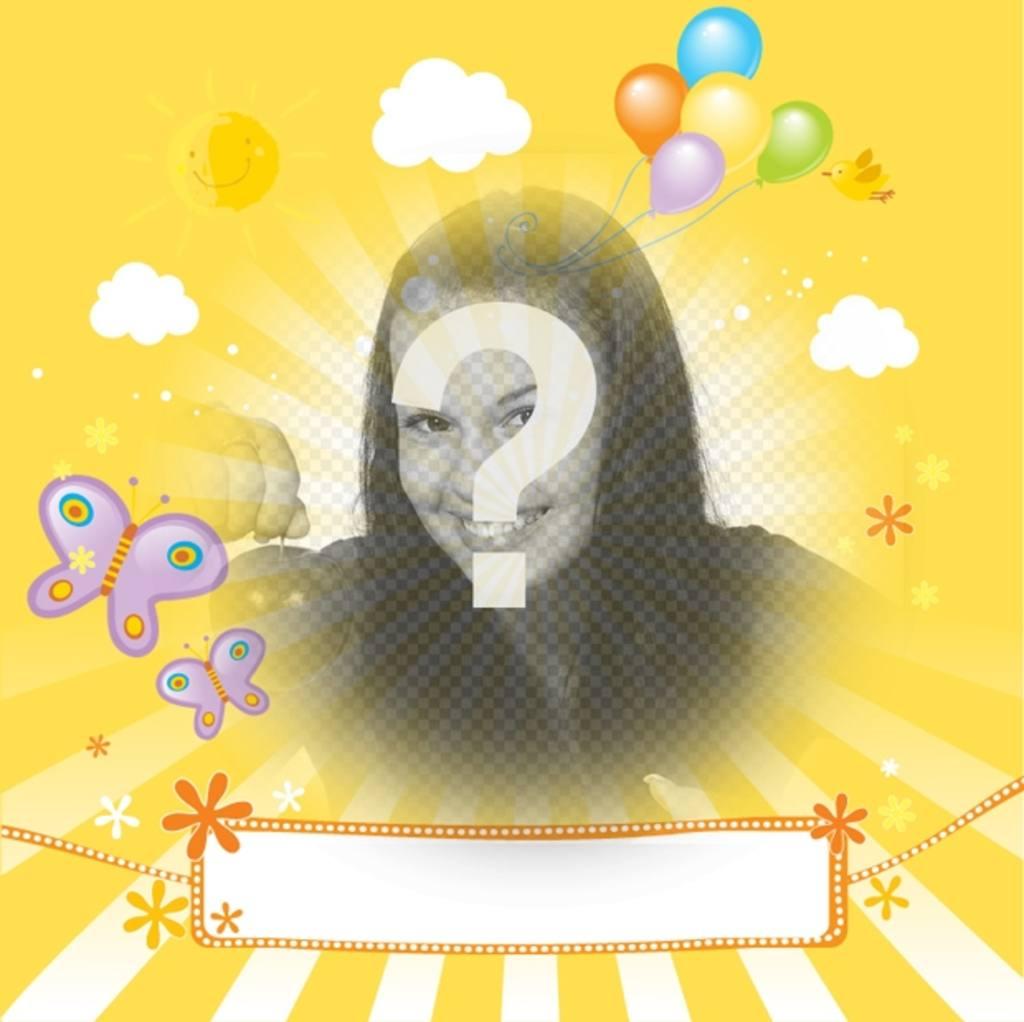 Criança Postal com foto personalizada e de texto para felicitar seus amigos e familiares em ocasiões especiais como aniversários, dia das mães ou dia dos pais
