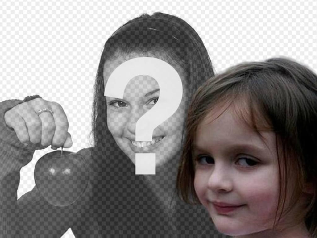 Fotomontagem com a menina fogo, um dos memes mais populares da internet