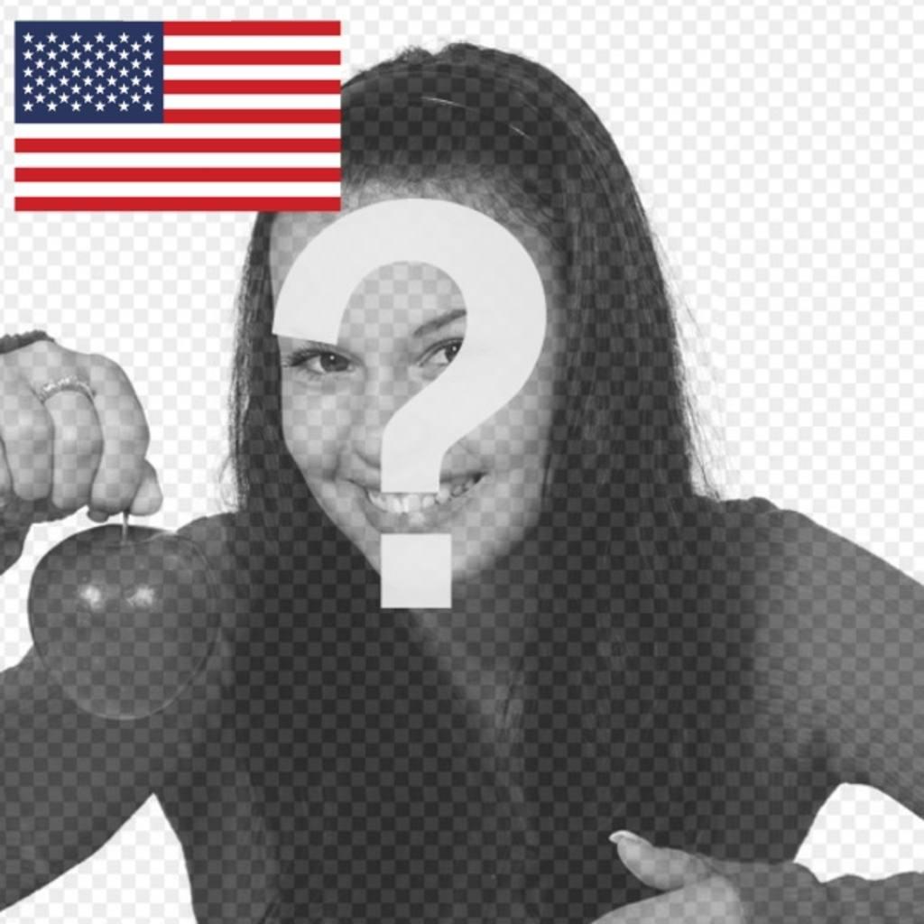 Fotomontagem com a bandeira dos Estados Unidos para personalizar sua foto do perfil Twitter ou outras redes sociais