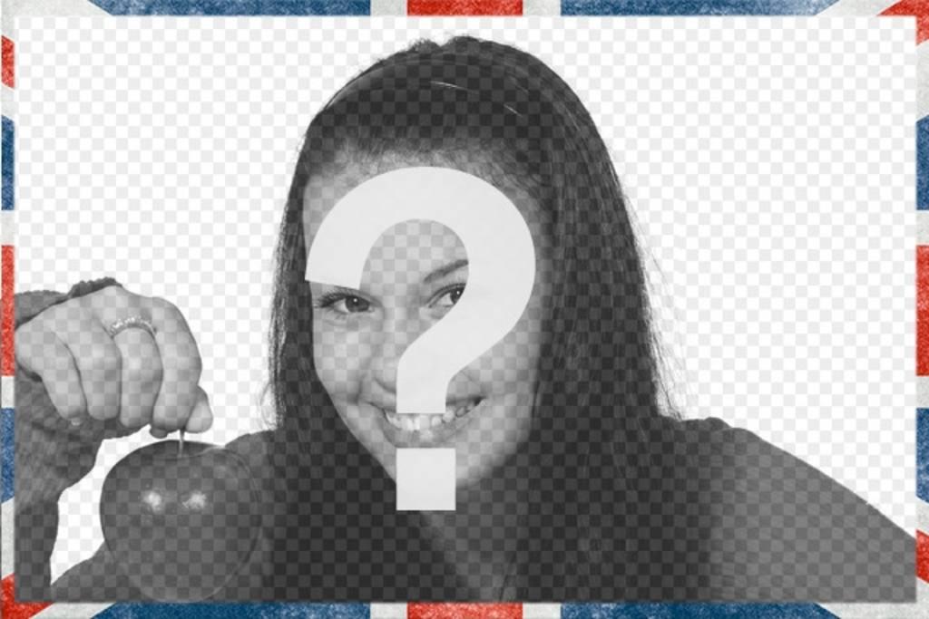 Moldura com um estilo grunge bandeira do Reino Unido para decorar suas fotos online