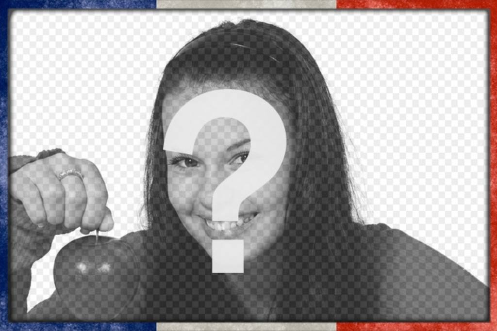 Moldura para foto com a bandeira francesa na borda para personalizar suas melhores fotos fazer upload de fotos online em alguns passos simples