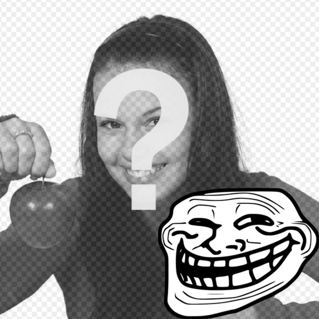 Fotomontagem para colocar o Troll Face Meme com sua foto