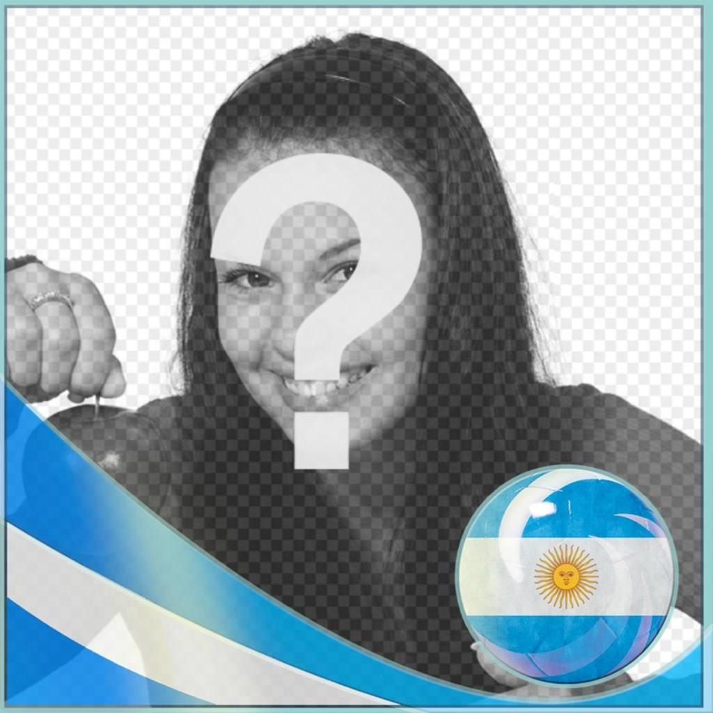 Moldura com bandeira para a Argentina para colocar uma foto de você