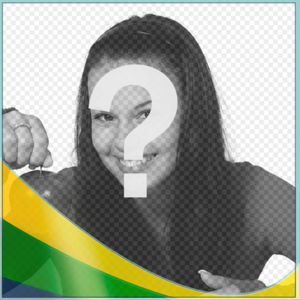 Efeito da foto para colocar cores do Brasil falg em sua foto