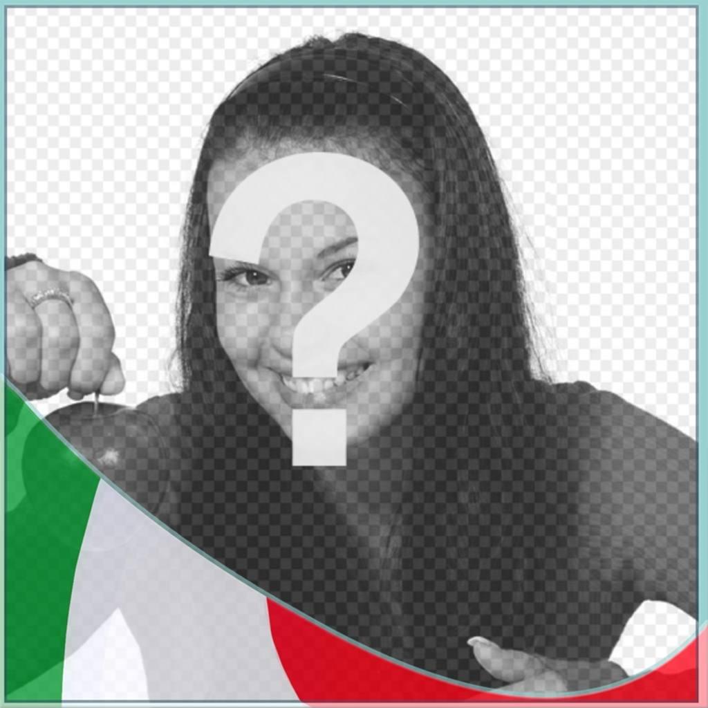 Montagem de colocar as cores da Itália em sua foto