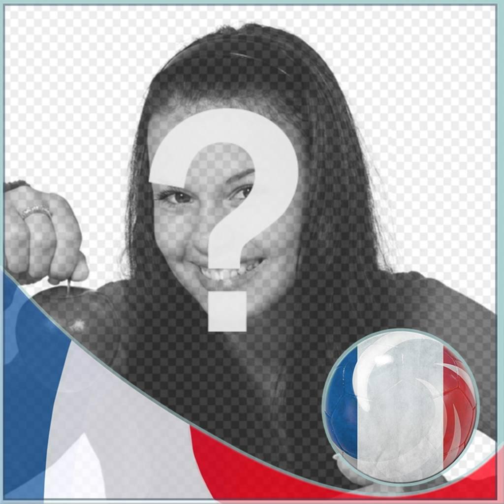 Montagem com a bandeira da França para colocar o perfil em redes sociais