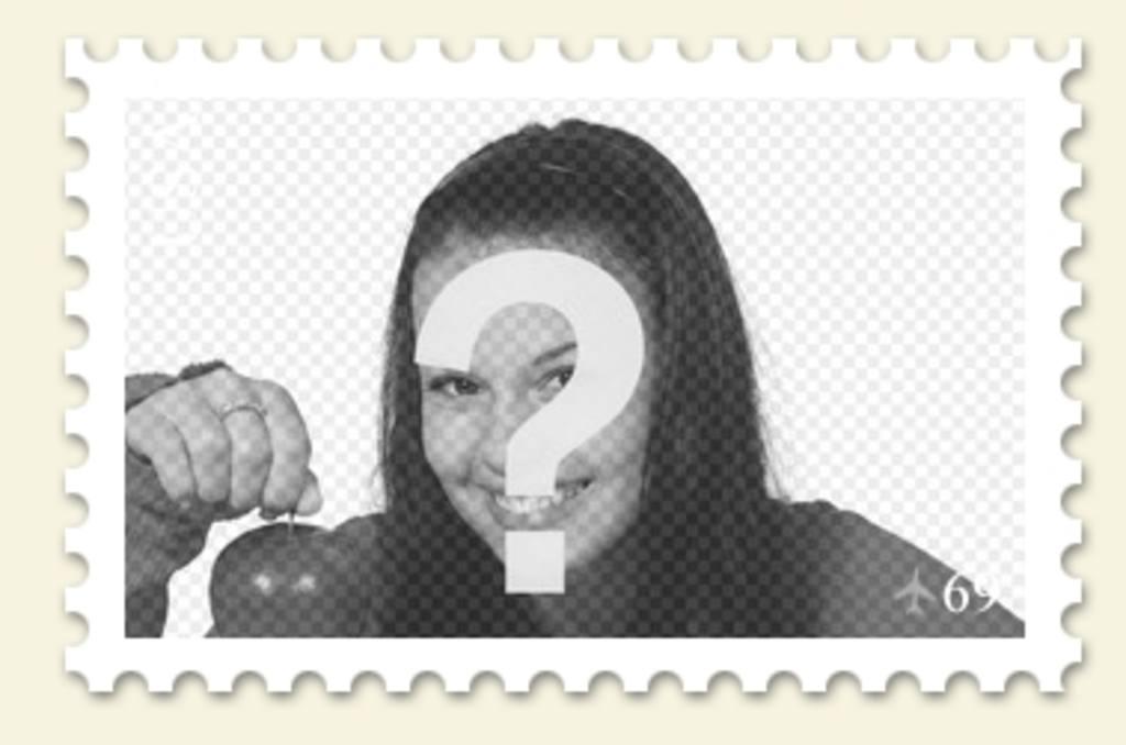 Colagem para colocar sua foto em um selo de fazer online
